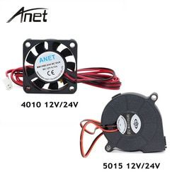 Anet A6 A8 DC Cooling Fan 5015 Turbo fan 4010 Fan 12V/24V Hot End Extruder For MakerBot RepRap UP Mendel I3 Printer