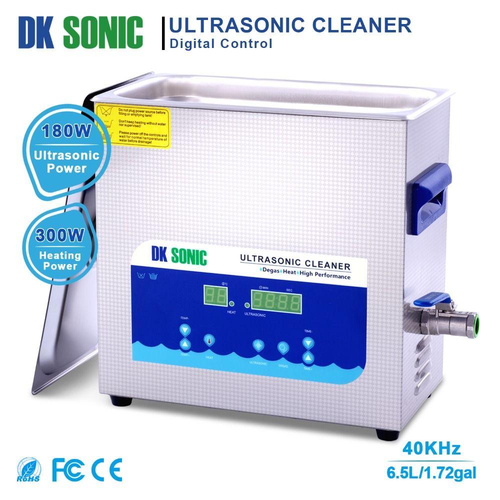 DK sonic 6.5L Ultra sonic Schmuck Reiniger Bad mit Timer Heizung Korb Ultraschall für Prothese Uhr Ketten Gläser Auto Teile