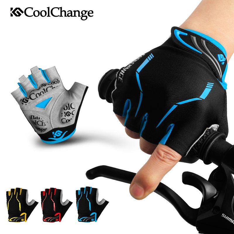 CoolChange Radfahren Handschuhe Half Finger Mens frauen Sommer Sport Shockproof Fahrradhandschuhe GEL MTB Fahrrad Handschuhe Guantes Ciclismo