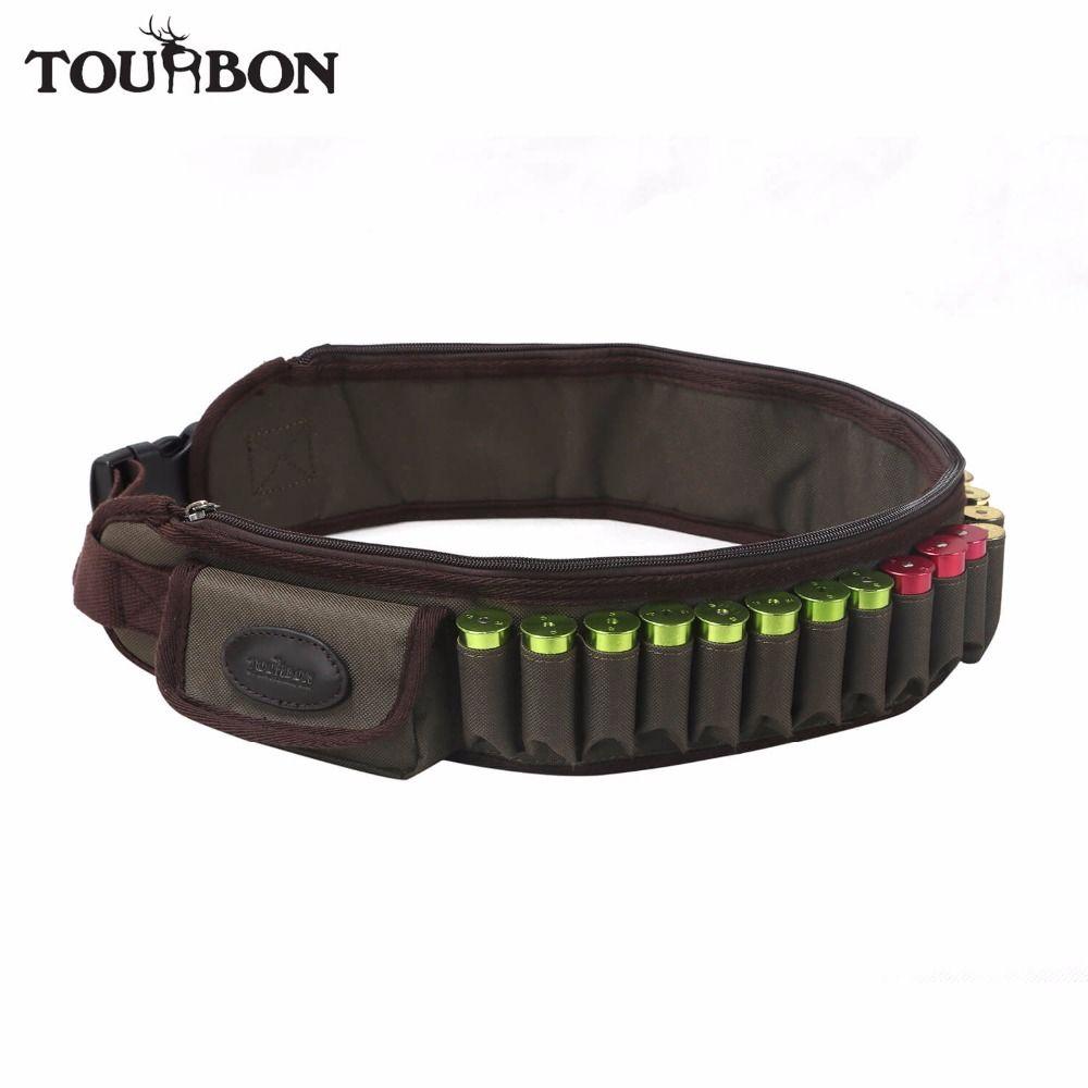 Tourbon Hunting 12/16 Gauge Ammo Belt Shooting Holder Cartridges Belt 24 Rounds Bandolier for Shotgun Hunting Gun Accessories