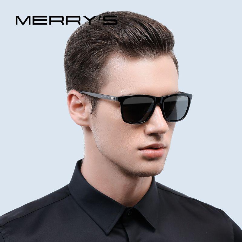 MERRY'S mode unisexe rétro aluminium lunettes de soleil hommes polarisé lentille marque Designer Vintage lunettes de soleil pour les femmes UV400 S'8286