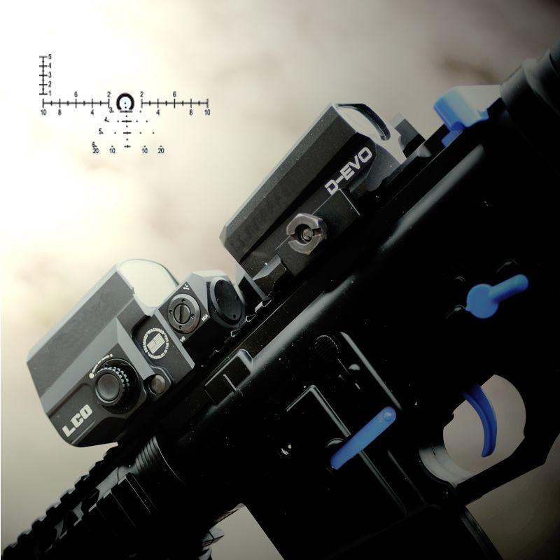 LP D-EVO Dual-Verbesserte Optic mit Spezielle Absehen Lupe mit LCO Reflex Red Dot