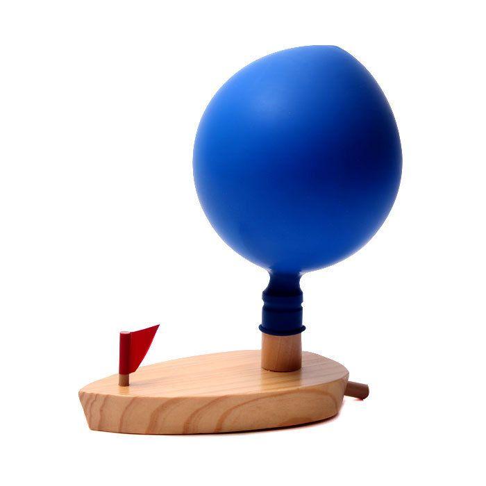 Juguetes del bebé Schylling globos aerostáticos barco juguetes de madera clásicos globo barco de madera del niño juguetes de baño de madera navidad regalo de cumpleaños