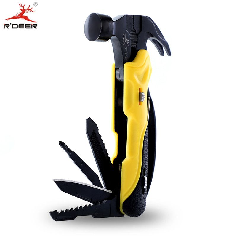 Multi Tool Outdoor Survival Knife 7 in 1 Pocket Multi Function Tools Set <font><b>Mini</b></font> Foldaway Plers Knife Screwdriver
