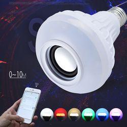 TSLEEN E27 Inteligente RGB Lâmpada Colorida Sem Fio Bluetooth Speaker Música Tocando Dimmable LEVOU Música Lâmpada Luz + Remoto Chave 24 controle