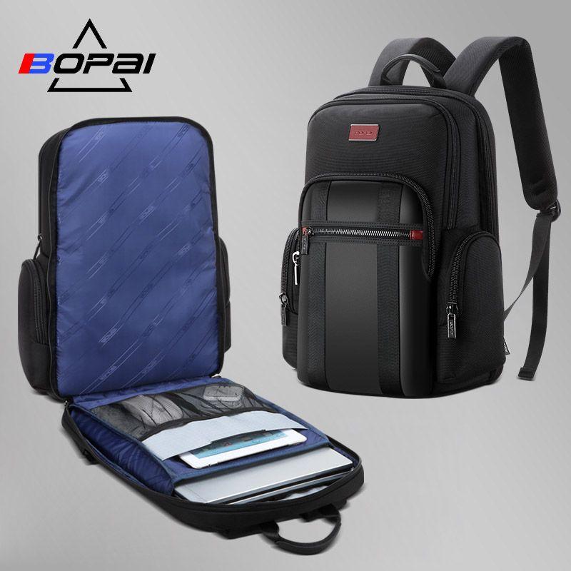 BOPAI mochila hombre Neue Männer Rucksack Für 15,6 zoll Laptop Rucksack Große Kapazität Student Rucksack Casual Business zurück pack