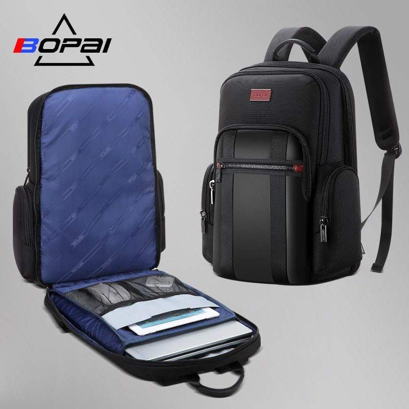 BOPAI mochila hombre New Men Backpack For 15.6 inches Laptop Backpack Large Capacity Student Backpack Casual Business back pack