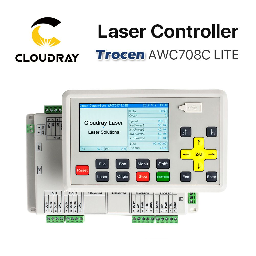 Cloudray Trocen Anywells AWC708C LITE Co2 Laser <font><b>Controller</b></font> System for Laser Engraving and Cutting Machine Replace AWC608C