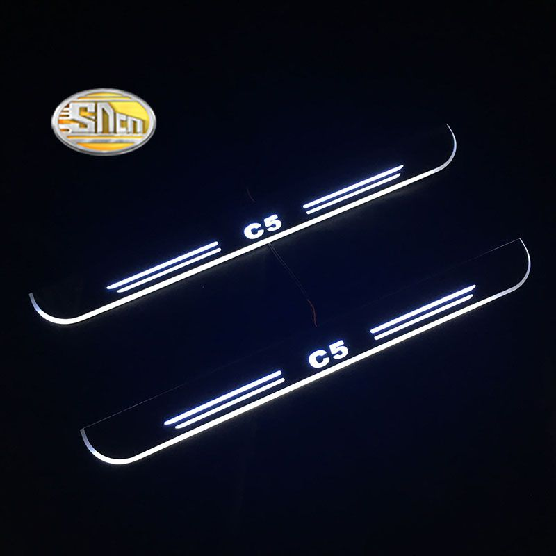 SNCN Led door sill For Citroen C5 Door scuff pedal door threshold wearproof courtesy blinking lights