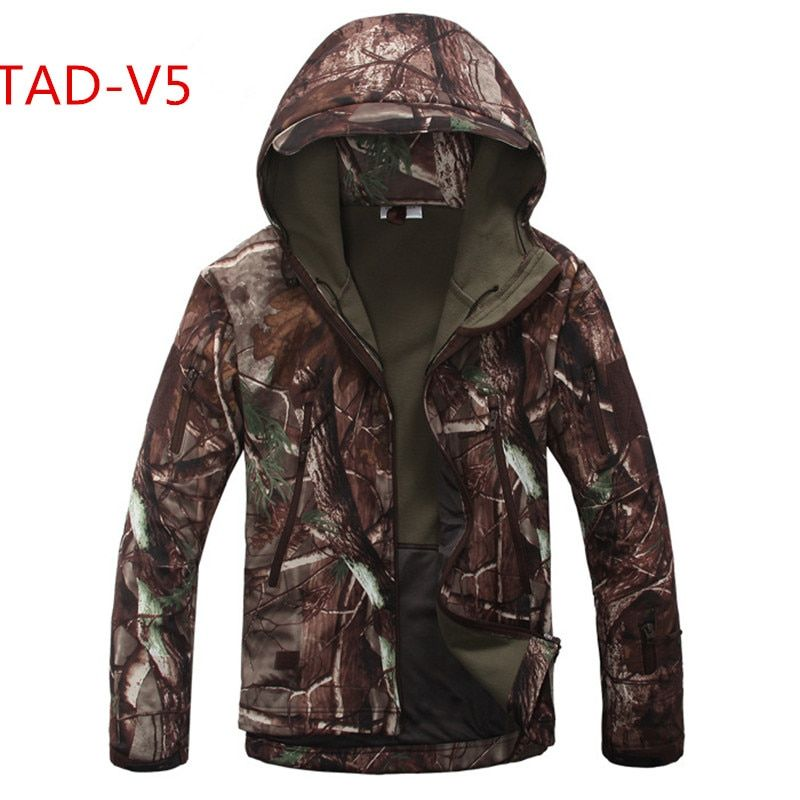 High quality Lurker Shark skin Soft Shell TAD V 5.0 Military Tactical Jacket Waterproof Windproof Army bomber jacket Clothing S