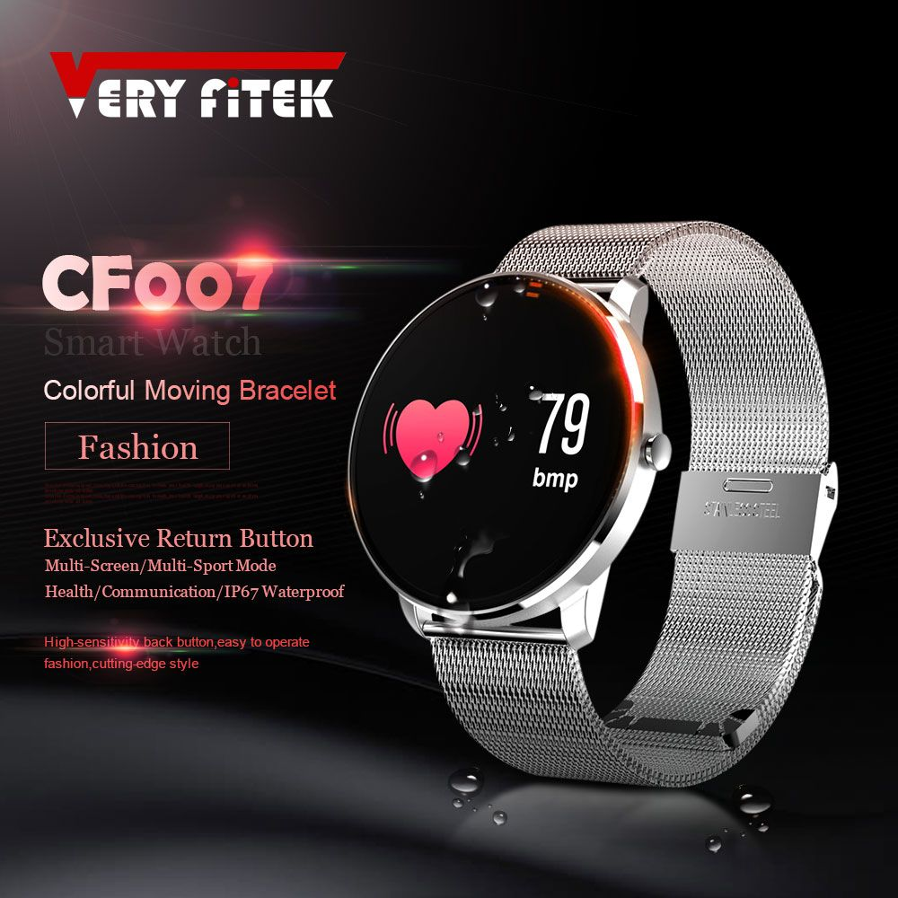 VERYFiTEK CF007S Color Screen Smart Watch Heart Rate Blood Pressure Blood Oxygen Sport Watches Men Women Fitness Smartwatch
