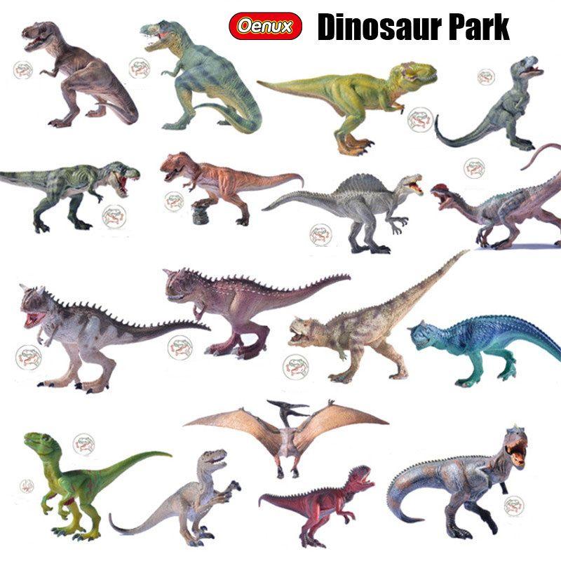 Oenux Jurassic Therizinosaurus Monde Des Dinosaures Modèle Roi T-REX Triceratops Spinosaurus PVC Figurines Cadeau de Jouet Pour Garçon