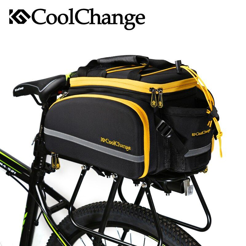 CoolChange Waterproof Bicycle Bag 35L Multifunction Portable Cycling Rear <font><b>Seat</b></font> Tail Bag Bike Bag Shoulder Handbag Accessories