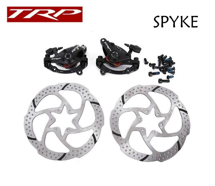 1 pair TRP SPYKE bicycle mtb Mountain bike mechanical disc brake Dual Side Actuation with 6 bolt centerline rotor
