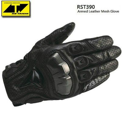 The Latest RS RST390 Armed Leather Mesh Gloves Motorcycle riding gloves motocross knight gloves