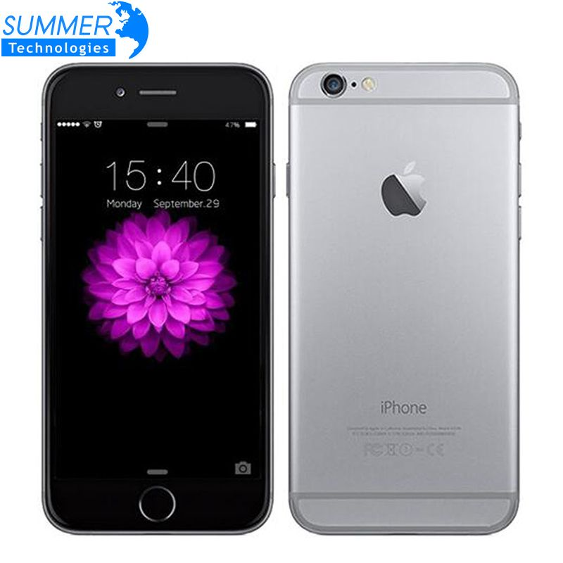 Original Apple iPhone 6 Dual Core Mobile Phone IOS WCDMA LTE 4.7' IPS 1GB RAM 16/64/128GB ROM <font><b>Cell</b></font> Phones