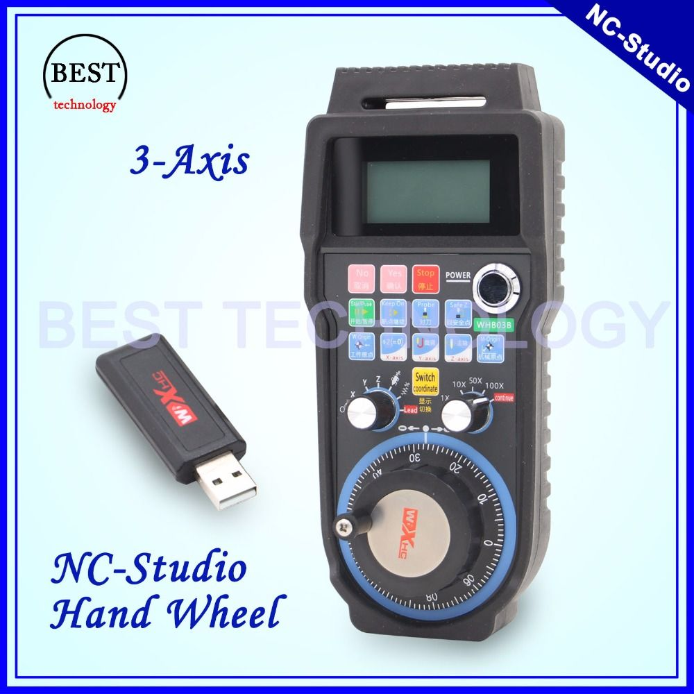 Free shipping! New Arrival NC Studio wireless hand wheel 40eter transmission distance handwheel 3 axis Nc studio MPG handwheel