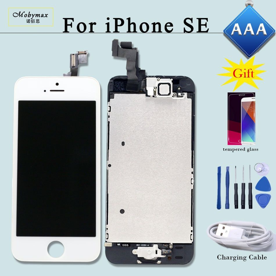 Full Assembly Replacement for iPhone SE LCD A1723 A1662 Screen Touch Digitizer Display Ecran+Home Button+Front Camera+Free Gifts