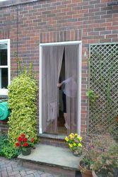 Aluminium Kette Tür Fenster Vorhang Metall Bildschirm Fliegen Insekt Jalousien Schädlingsbekämpfung, Silber 22-001