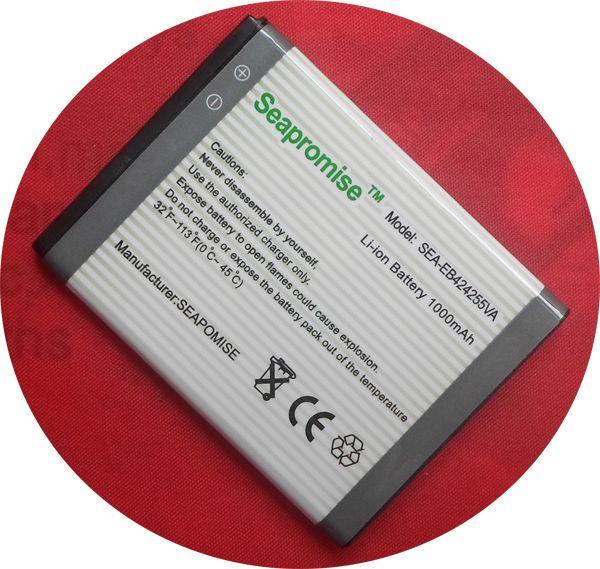 Freeshipping batterie EB424255VA (EB424255VU) für SAMSUNG M550, C5530, S3350, S3850, S5220, S5222, m630, R450, R380, R390, SCH-R560, R561