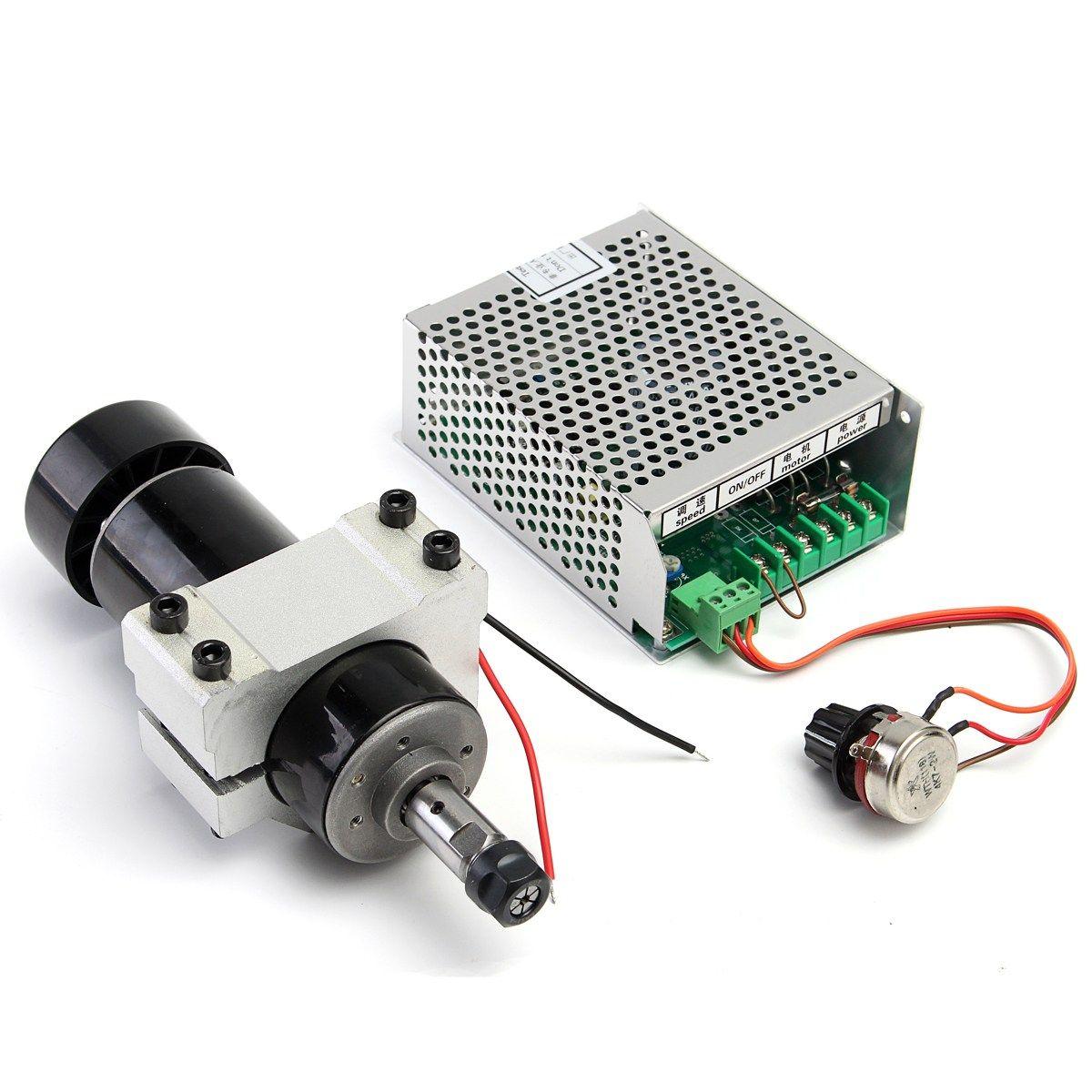 Marke Neue 1 Satz CNC Spindel 500 Watt Luftgekühlte 0.5kw Fräsen Motor Mit Spindeldrehzahl Stromrichter
