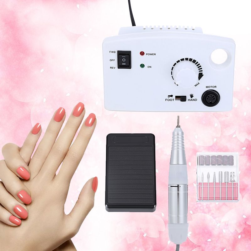Professional Electric Nail Drill Machine 30000rpm Grinding Manicure False Mill Cutter Drilling kit Drill File and Accessory