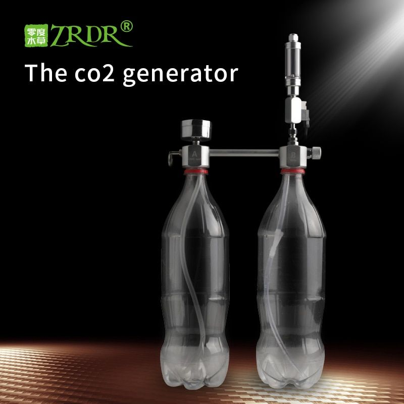 ZRDR Aquarium DIY CO2 Generator System Kit With Pressure Air Flow Adjustment Water Plant Fish AquariumCo2Valve Diffuser