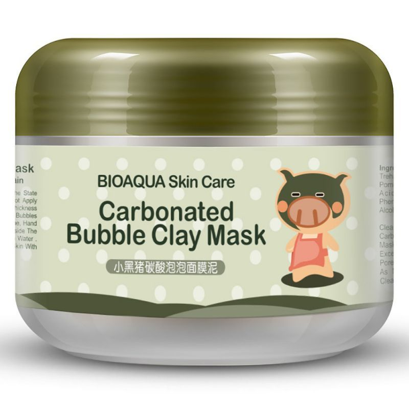Hot Deep pore Cleansing Clay Mask Carbonated Bubble Anti-Acne Moisturizing Face Mask 100g