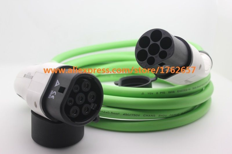 32A IEC62196-2 EV plug Type 2 to Type 2 Mennekes single phase EV connector electric vehicle charging station ev charger