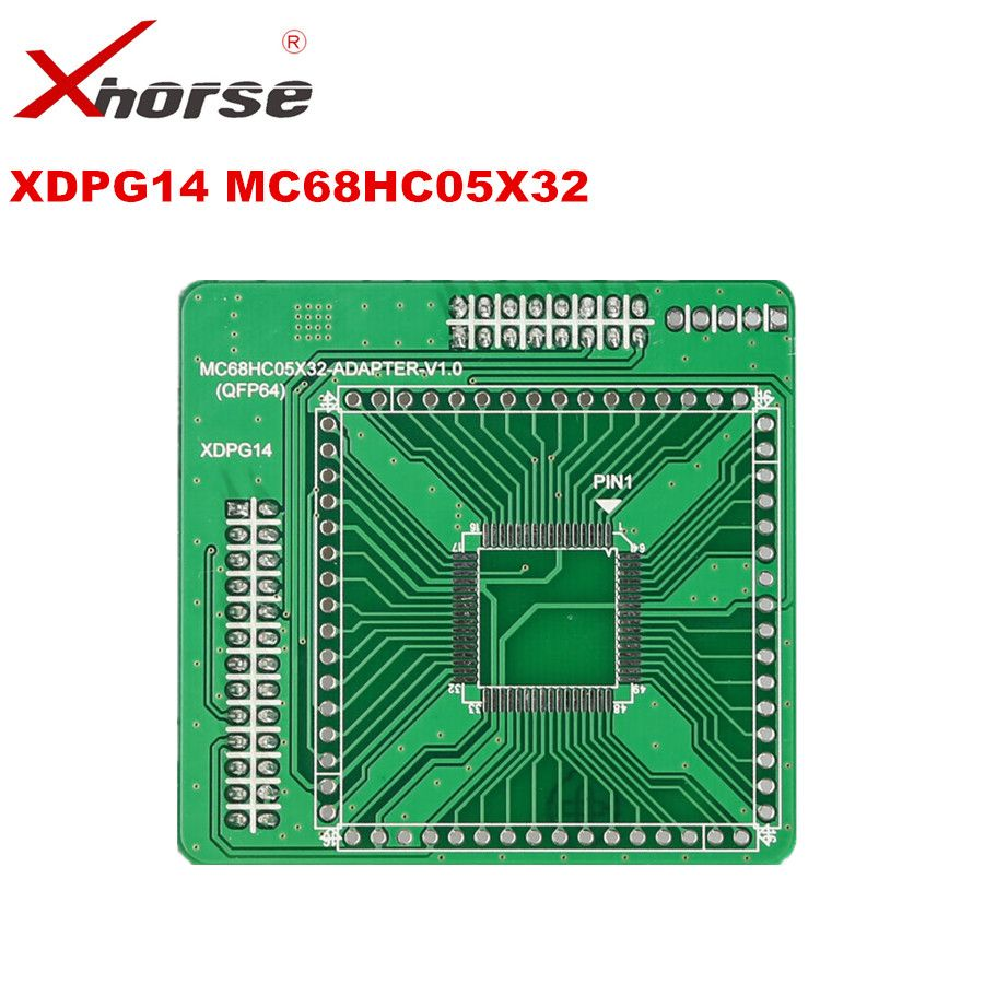 XHORSE XDPG14CH MC68HC05X32 QFP64 V1.0 Adapter Working Together With VVDI PROG