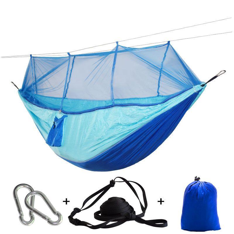 Livraison directe Portable moustiquaire hamac tente avec sangles réglables et mousquetons grand bas 21 couleurs en Stock