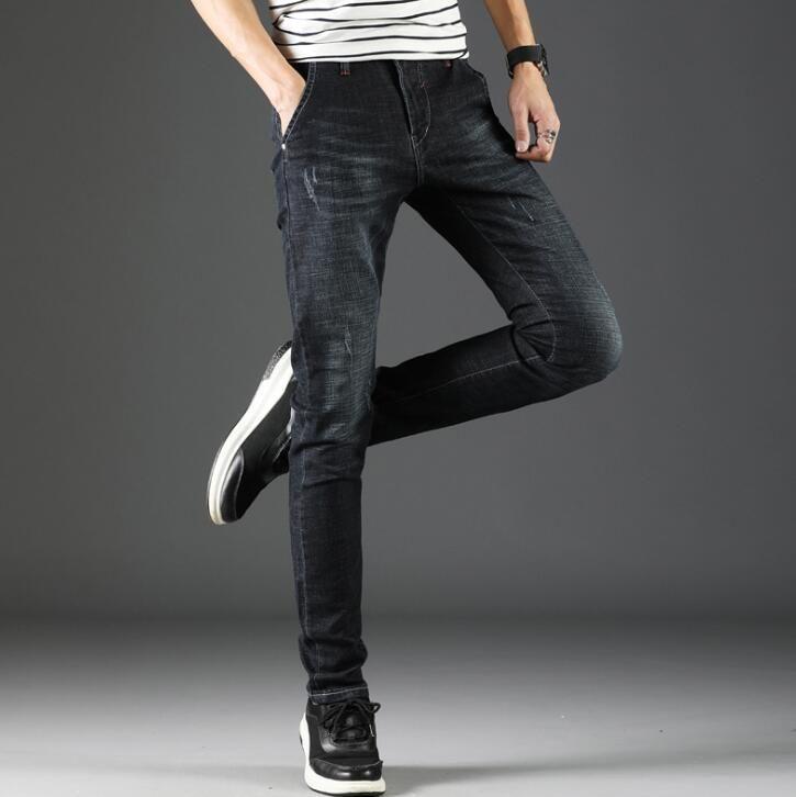 2019 nouveau élégant populaire printemps hommes Jeans Top qualité Stretch Long pantalon pour homme