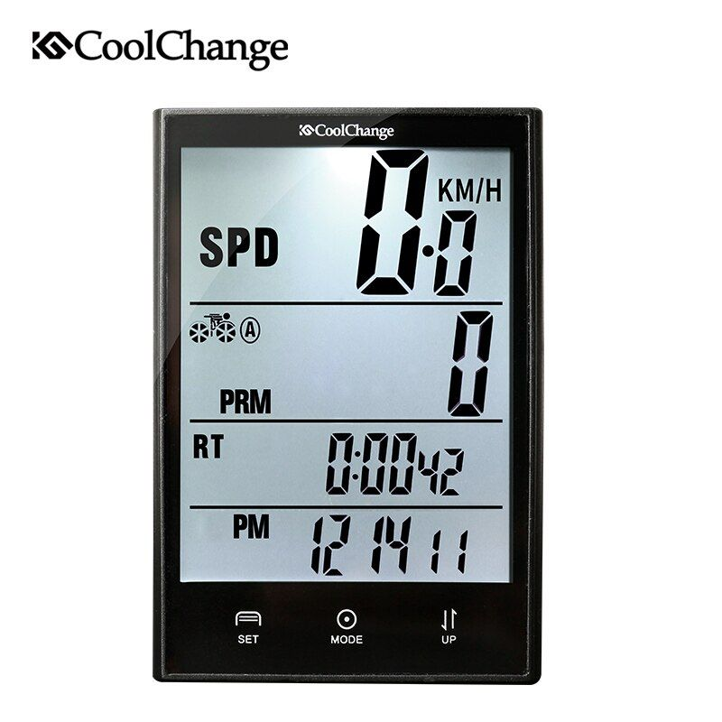 CoolChange Wireless Bike Computer Speedometer <font><b>Odometer</b></font> Rainproof Cycling Bicycle Computer Bike Measurable Temperature Stopwatch