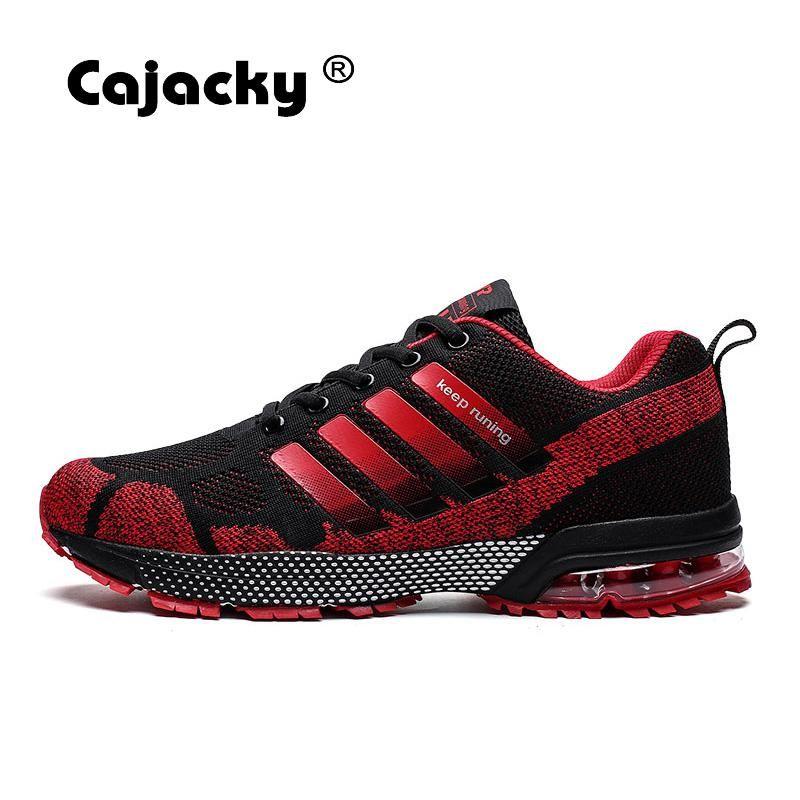 Cajacky hommes baskets course à pied grande taille 36-47 unisexe Air Mesh Jogging chaussures baskets plein Air chaussures léger Zapatillas Hombre