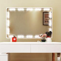 DIY Голливудский стиль светодиодный зеркальный свет с сенсорным диммером и электропитанием макияж зеркало тщеславие светодиодный свет для ...