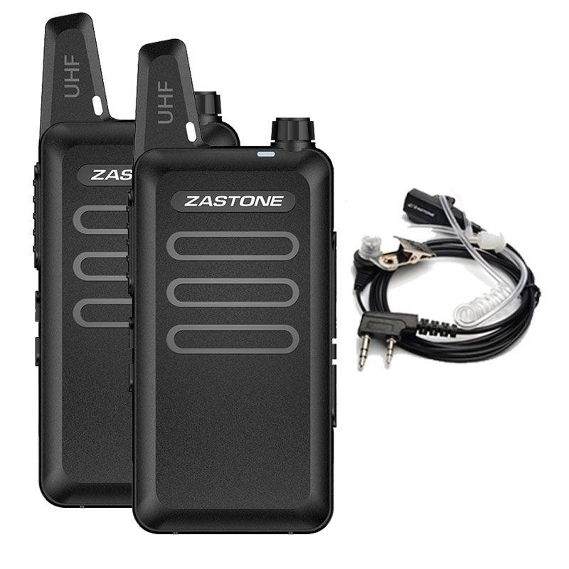 Zastone X6 Mini Walkie Talkie Pair Headset UHF 400-470Mhz Frequency Portable Handheld Radio Comunicador Two-Way Amateur Radio