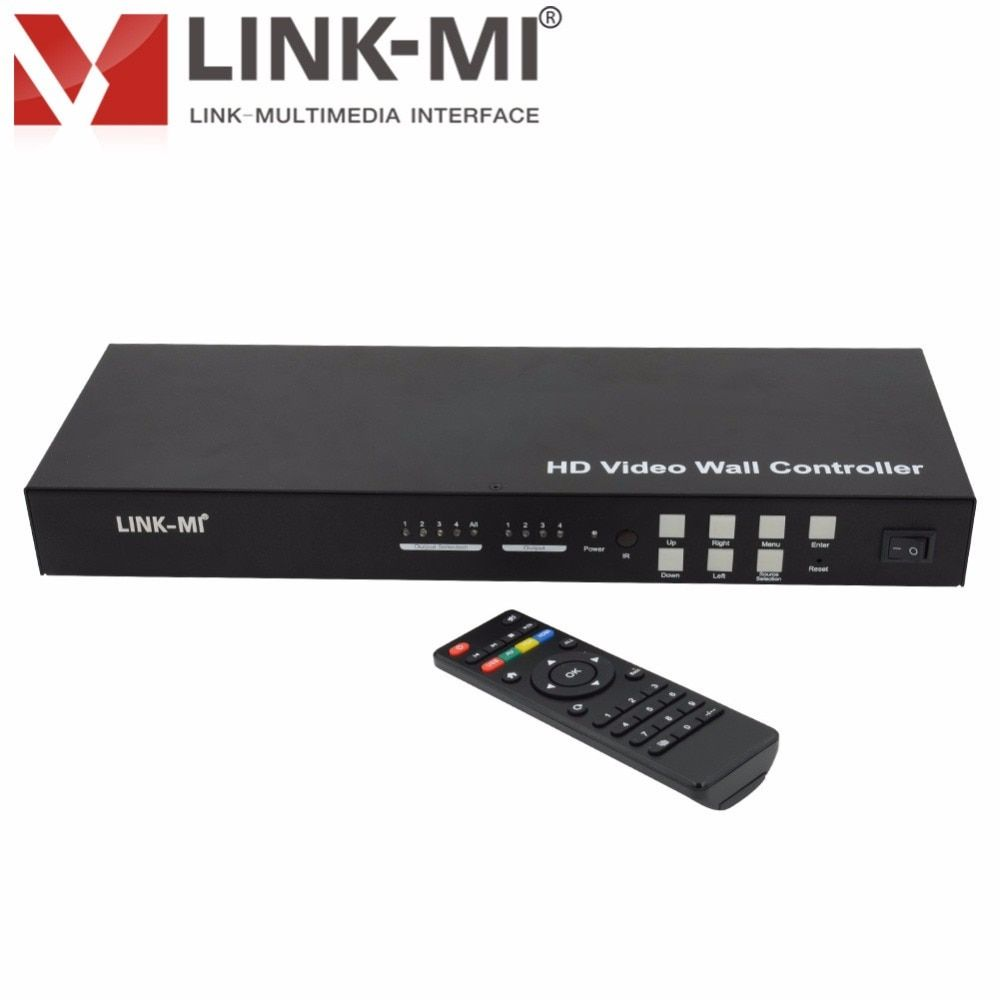 LM-VW02 2x2 Video Wall Controller 3x3 4x4 Max 10x10 support 180 degree rotation, IR, RS232 Control USB,VGA,AV,HDMI compliant DVI
