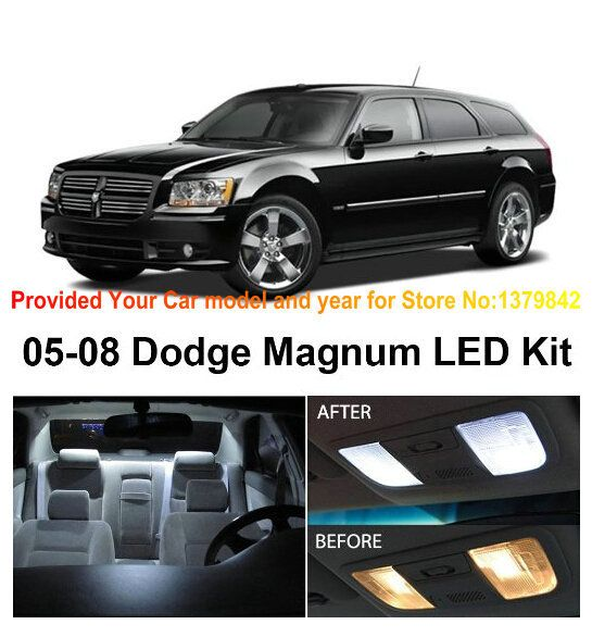Interior Package Kit For Dodge Magnum 2005-2008 Auto automotive Car Led Reading dome lights bulbs for cars 7pc