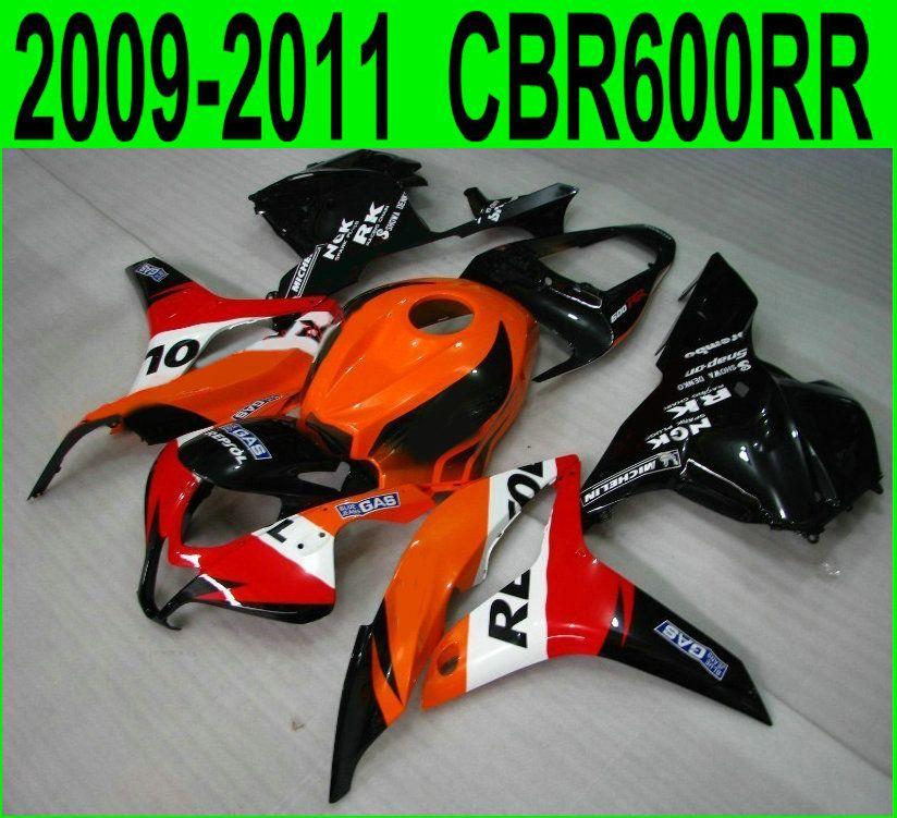 CBR 600RR 2009 2010 2012 2011 100% fit Für Honda verkleidungen cbr600rr 09 10 11 12 (rot repsol) hohe qualität Verkleidung kit China07
