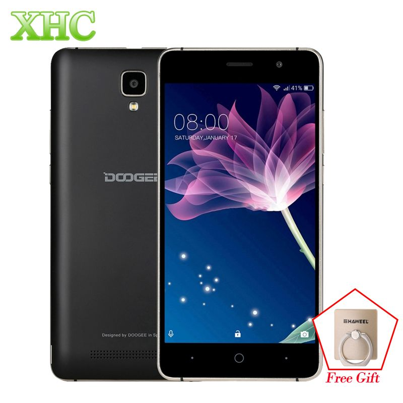 Original Doogee X10 8GB WCDMA 3G Smartphone 3360mAh 5.0'' Cellphone 5MP MTK6570 Dual Core Android 6.0 RAM 512MB Mobile Phone