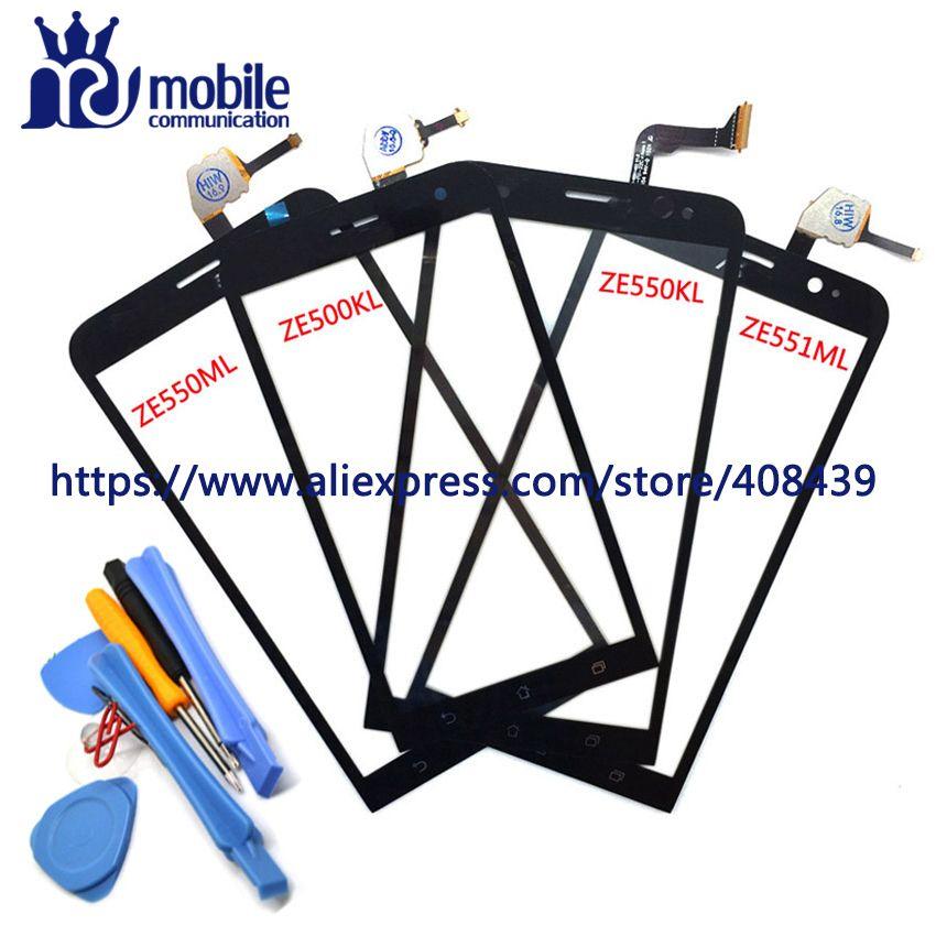 Для Asus Zenfone 2 Laser ZE550KL ZE500KL ze551ml ze550ml Сенсорный экран Панель планшета Сенсор Стекло объектив с инструментами