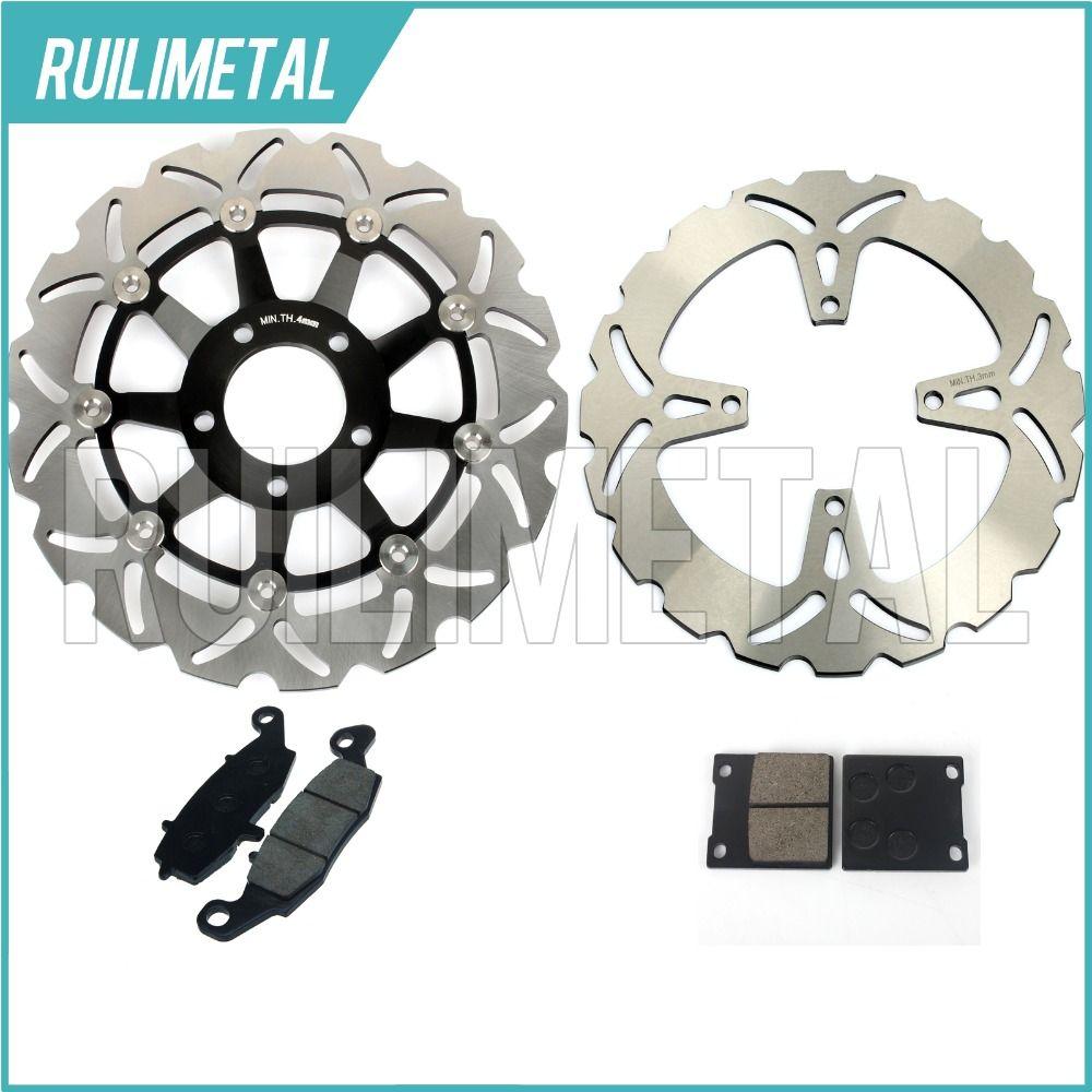Front Rear Brake Discs Rotors Pads Set for Suzuki GS 500 E 96 97 98 99 00 01 02 03 K3 K2 GS 500 F 04 05 06 07 08 K4 K5 K6 K7 K8