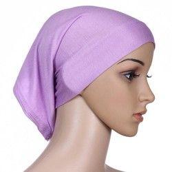 Solide Couleur Islamique Femmes Hijab Sous Écharpe Tube Bonnet Cap Head Cover Chapeaux