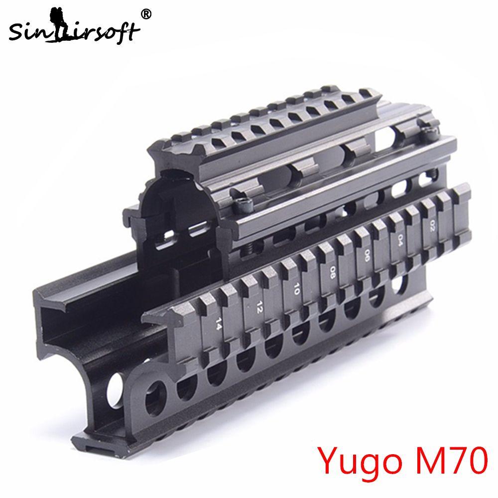 SINAIRSOFT Yugo M70 AK Quad Rails pour AK 47/74 Chasse Tir Pistolet Tactique Quad Rail de Montage avec 6 pièces Couvre
