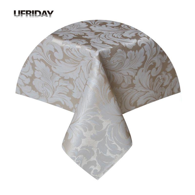 UFRIDAY Rectangle Nappe Feuilles Jacquard Polyester Imperméable Couverture de Table En Tissu pour Salon Hôtel Restaurant Nappe