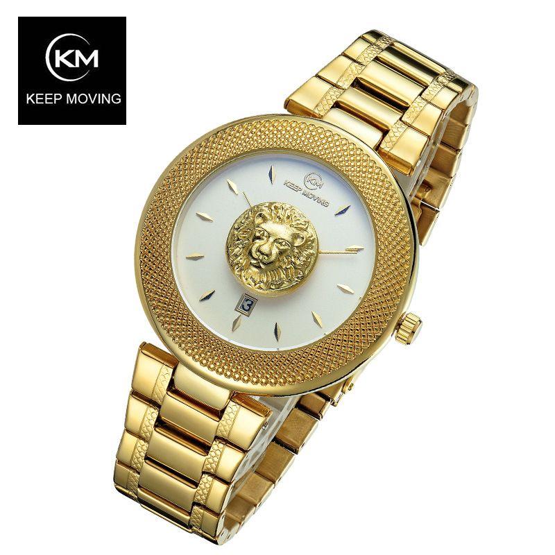 Gardez les femmes en mouvement haut célèbre marque de luxe montre à quartz décontractée or Rose femmes eau montres en acier inoxydable Relogio