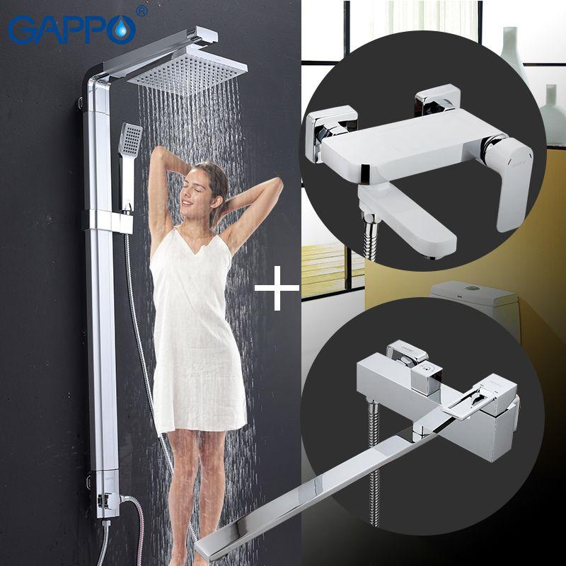 GAPPO dusche wasserhahn bad armaturen mischer bad wand badewanne wasserhahn wasserfall dusche bad mischer wand torneira tippen