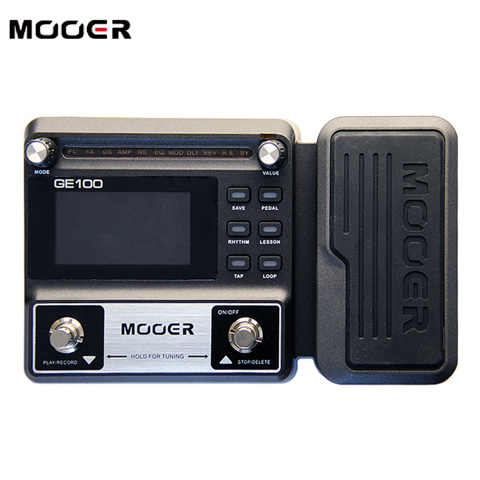 NEW  MOOER GE100 Guitar Multi-Effects Processor Large high brightness LCD display pedal  Effect pedal