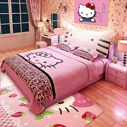 120cmX190cm 5sizes optional hello kitty pink leather children soft sleeping bed