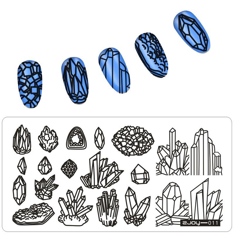 Новый 1 шт. высокое качество ногтей штамповки Таблички Нержавеющаясталь Изображение Штамповка Трафареты для дизайна ногтей маникюр штамп ...